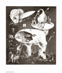 Hell Escher Poster