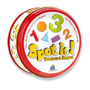 Spot It! Numbers & Shapes Game