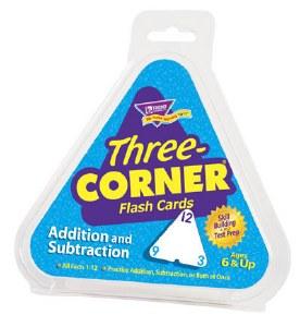 3-Corner Flash Cards Add/Sub