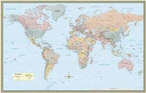 World Map Laminated Poster
