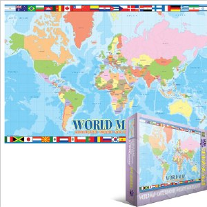 World Map 100 pieces
