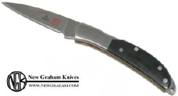 Al Mar 1001BM Osprey Premium Gentleman's Lockback Knife with Black Micarta Handle Scales