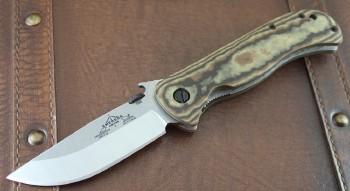 Emerson Overland Renegade Folder - 154 CM Satin Plain Edge - Maple Richlite Handles - WAVE & Thumbdisc - Titanium Linerlock