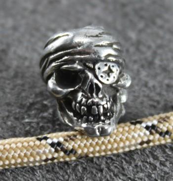 One Eye Jack Skull Bead