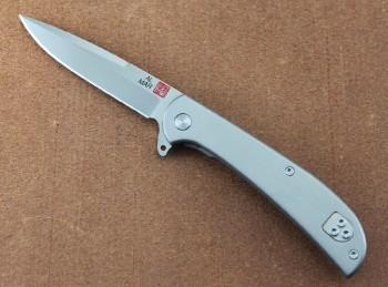 AMK4112 Hawk Ultralight - TC4 Titanium Framelock - Flipper - D2 Steel Blade