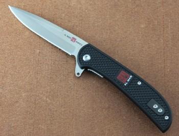 AMK4122 Hawk Ultralight Black FRN - Linerlock - Flipper - 8Cr13MoV Blade