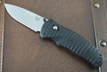 Benchmade 1000001 Valli Assisted - Satin S30V Plain Edge Blade - Black G-10 Handles - Axis Lock