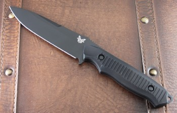 Benchmade 1410BK Nimravus Fixed Blade - Black 154CM Plain Edge Blade - Black 6061-T6 Aluminum Handle
