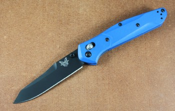 Benchmade 940BK-2002 Limited Edition Osborne - Black CPM-S20V Plain Edge Blade - Blue G-10 Handles - Axis Lock