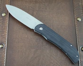 Boker Plus Exskelibur I - D2 Tool Steel Blade - Black G-10 Front w/Stainless Framelock - 01BO137