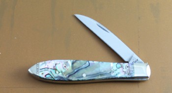 Case XX Tear Drop - Stainless Wharncliffe Blade - Abalone Handles - 12016