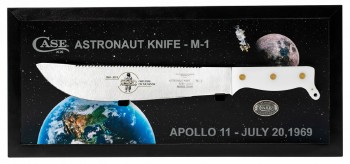 Case XX Astronaut's Knife M-1 Commemorative - As Ground High Carbon Sawback Blade - White Synthetic Handle - Display Box - Limited Production:  250 - 22019