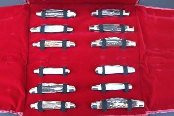Kissing Crane Reproduction Series Full Set of 12 Knives