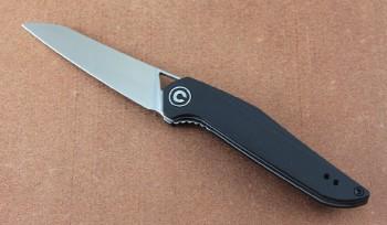 CIVIVI 905C Mckenna Front-Flipper - Linerlock - D2 Blade Steel - Black G-10 Handles