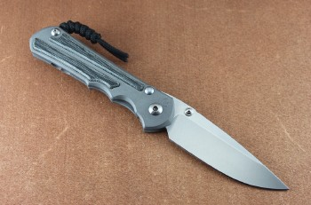 Chirs Reeve Left Handed Large Inkosi Drop Point with Black Micarta Inlays