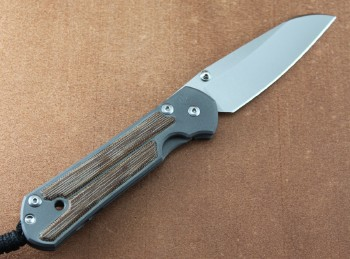 Chris Reeve Large Sebenza 21 Insingo Left Hand with Natural Canvas Micarta Inlays