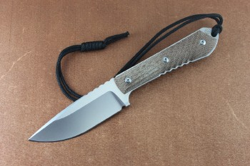 Chris Reeve Nyala Drop Point with Natural Micarta Scales