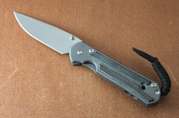 Chris Reeve Small Sebenza 21 Black Micarta Inlays with Double Thumb Lugs
