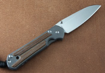 Chris Reeve Small Sebenza 21 Insingo Left Hand with Natural Canvas Micarta Inlay