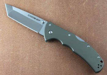 Cold Steel 58PT Code 4 Tanto - S35VN Blade Steel - 6061 Aluminum Handle - Tri-Ad Lock