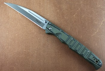 Cold Steel 62P1A Frenzy I - Black/Green G-10 Handle - S35VN Blade Steel - Tri-Ad Lock