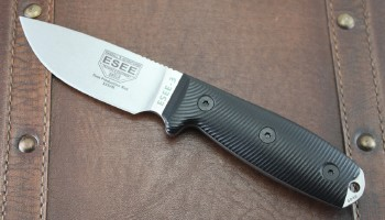 ESEE 3PM35V001 - Stonewashed S35VN Stainless Blade - Black 3D G-10 Handles