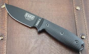 ESEE 3PMB-001 - Black Blade - 3D Black G-10 Handle