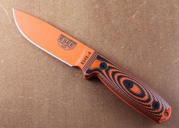 ESEE 4POR-006 - Orange 1095 Blade - Black/Orange 3D G-10 Handle - Black Hardshell Sheath w/Clip Plate
