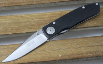Klotzli ACC M2 Michael Walker Designed Liner-lock - Polished ATS-34 Blade - Black G-10 Handles -Swiss Made