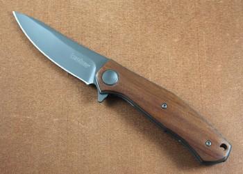Kershaw Concierge 4020W - Wood Handle - Gray Titanium Carbo-nitride finished 8Cr13MoV blade
