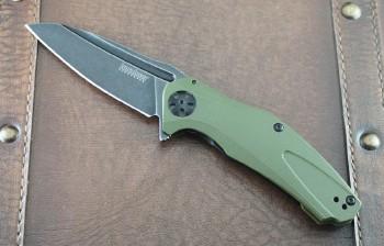 Kershaw Natrix Olive Frame with Blackwash Blade