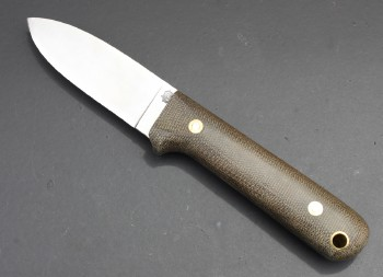 LT Wright Next Gen - AEB-L Stainless Flat Ground Blade - Green Resiten Scales - Leather Sheath