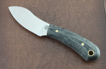 LT Wright Lil MUK - Flat Ground CPM-3V Blade - Flat Black Micarta Handle Scales - Leather Sheath