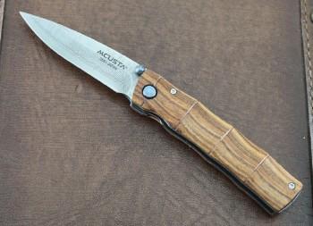 Mcusta 0074DR Take Bamboo Linerlock - 33 Layer VG-10 Core Blade - Select Cocobolo Handles - Seki City