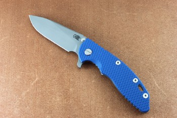 Xm-18 3.5 Slicer Working Finsh Tri-Way Pivot Blue G10