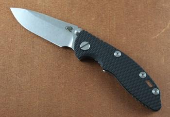 Hinderer XM-18 3.0 Non-Flipper - Stonewashed - CPM 20CV Spearpoint - Black G-10