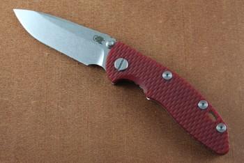 Hinderer XM-19 3.0 Non-Flipper - Stonewashede - CPM 20CV Spearpoint - Red G-10