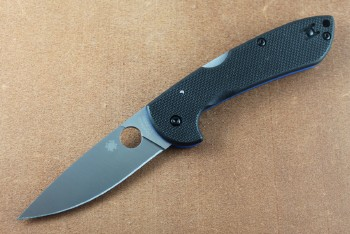 Spyderco C247GP Siren - LC200N Blade - Black G-10 Handles