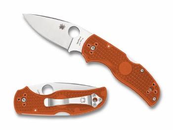 Spyderco Native 5 Lightweight Burnt Orange FRN CPM REX 45 Sprint Run