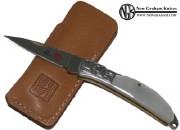 Al Mar 1001P Osprey Premium Gentleman's Lockback Knife Engraved Bolsters and Mother of Pear Handle Scales -MOKI-