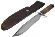 Blackjack Classic Blades 7L Model 7 with Stacked Leather Handle - A2 Tool Steel Convex Grind Blade