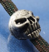 Metal Skull Bead, Paracord