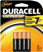 Duracel AAA Batteries 4pk