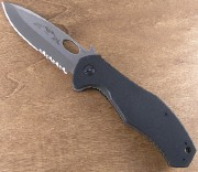 Emerson CQC 10 SFS Stonewashed Partially Serrated Blade