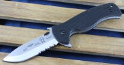 Emerson Sheepdog Spear Point SFS Stonewashed Partially Serrated Blade