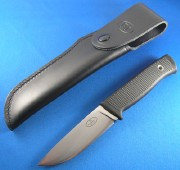 Fallkniven F1 Pilot Survival Knife - Satin Laminated VG-10 Blade - Black Kraton Handle - Full Cover Leather Sheath