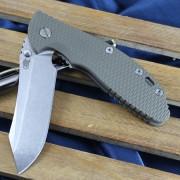 "Rick Hinderer XM-24 4"" Skinner Flipper - Stonewashed - OD Green G-10 Scale"