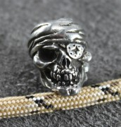 One Eye Jack Skull Bead