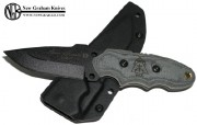 TOPS Tom Brown Tracker Scout - Black 1095 Carbon Alloy Blade - Micarta Handle Scales - Kydex Sheath - TBS-010