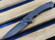 Zero Tolerance 0450CF - Flipper - Black S35VN Blade - Carbon Fiber/Titanium Framelock - ZT0450CF